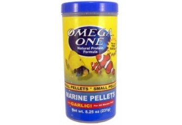 Omega One Garlic Marine pellets, sinking, 1,5mm, 231g