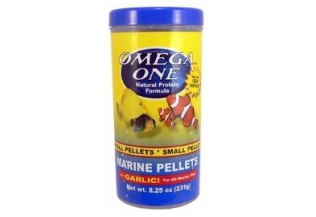 Omega One Garlic Marine pellets, sinking, 1,5mm, 231g